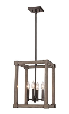 Industrial Candle Lit Pendant
