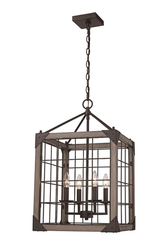 Industrial Caged Chandelier