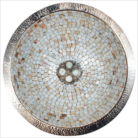 Round Mosaic with Quad Pearl Drain