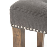 Ashford Sean Barstool & Counterstool W/Kickplate-Dark Moon Canvas