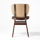 Irondale Sloan Dining Chair-Quilted Havana/Heavy Burlap