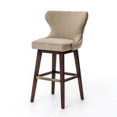 Metro Julie Swivel Barstool & Counterstool-Hyde Clay