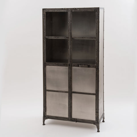 Element Cabinet-Nickel/Antique Nickel