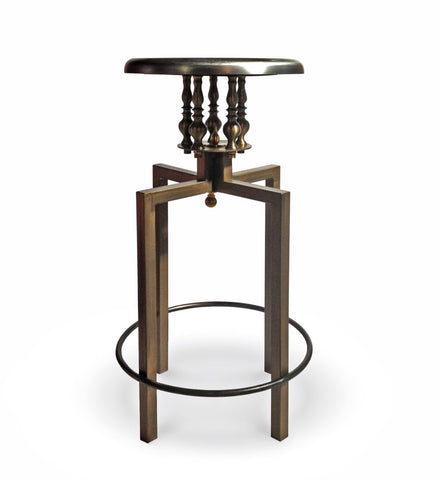 Industrial chic backless counter stool