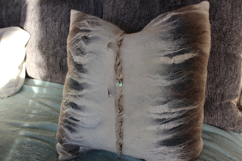 Felted Wool Pillow with Sequins