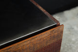 Hand-crafted reclaimed wood dresser by Thomas Bina close up