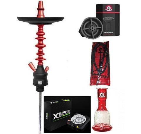 Starbuzz American Challenger Shisha Bundle with Coal Burner - D1 Silicone Hose