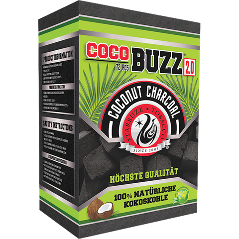 Starbuzz Cocobuzz 2.0 Natural Coconut Shisha Charcoal 72pcs (1kg)