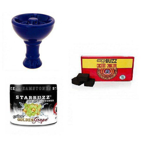 Starbuzz Steam Stone with Vortex Goliath Bowl and 15pc Coconut Charcoal
