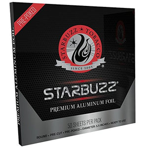 "Starbuzz Pre-poked Round Aluminum Foil 5.5"" - Pack of 50"