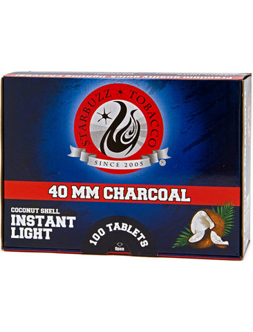 Starbuzz Premium Coconut Instant Light Charcoal 40mm 100pcs
