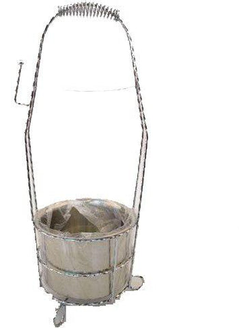 Shishagear Smooth Stylish Charcoal Basket Holder