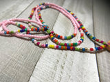 Sunset Beaded Tassle Necklace