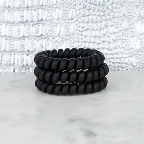 Matte Black Hair Tie Set