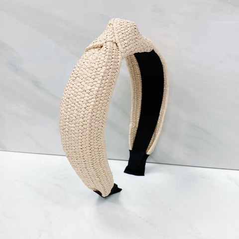 Knotted Straw Headband