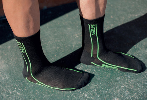 Nalini Compression Cycling Socks in Black/Lime