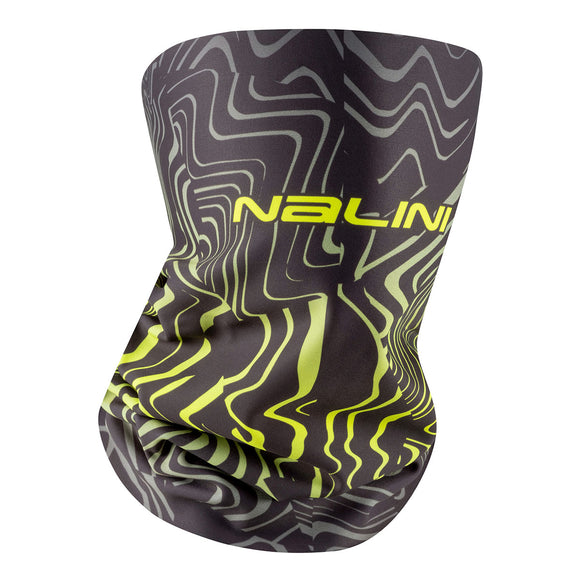 Nalini Winter Collar/ Neck-Warmer Black Face Mask/Gaiter - Black/Fluo