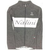 Nalini ELITE Long Sleeve Grey Wool Jersey