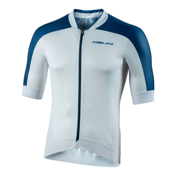 2020 Nalini Munich 1972 Short Sleeve Jersey - White/Blue (SALE)