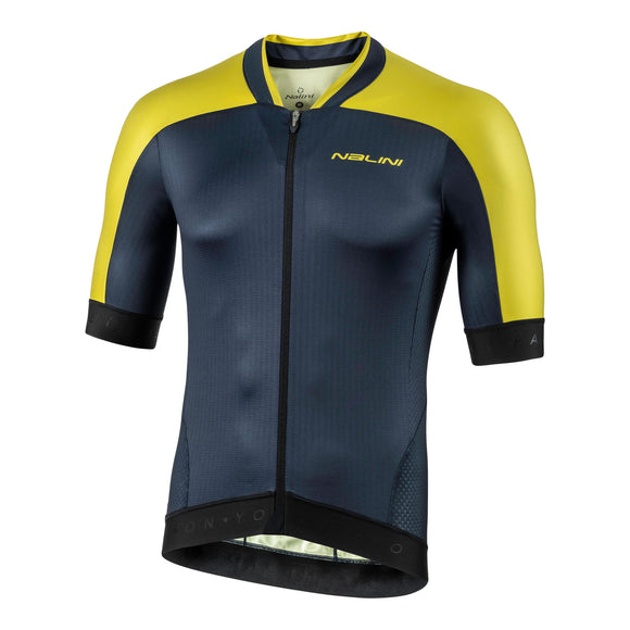 2020 Nalini Munich 1972 Short Sleeve Jersey - Navy Blue/Yellow