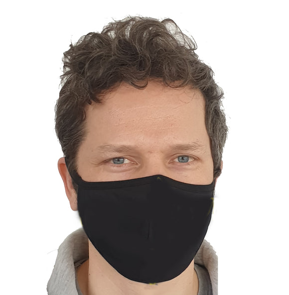 Barrier HeiQ PPE Face Mask - Black (2-Pack)