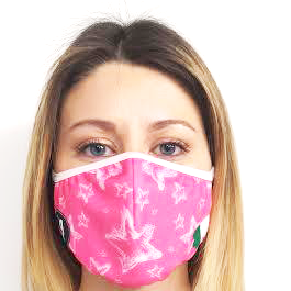 AirProtect Face Mask - Pink Stars