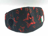 AirProtect Face Mask - Black/Red