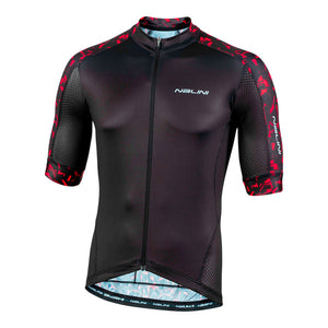 2020 Nalini Sydney SS Jersey - Black w/ Red Graffiti