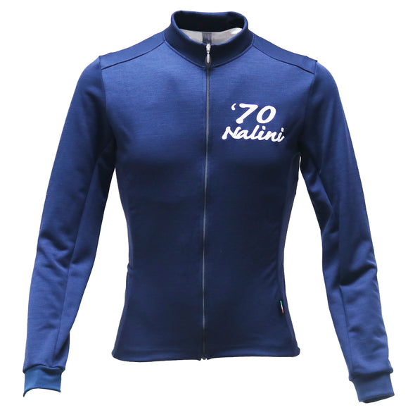 Nalini ELITE2 Long Sleeve Wool Jersey - Navy Blue