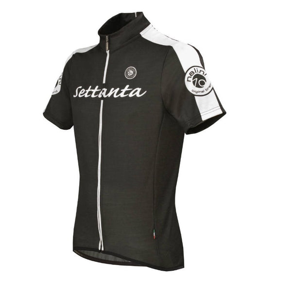 Nalini Settanta Wool Cycling Black SS Jersey