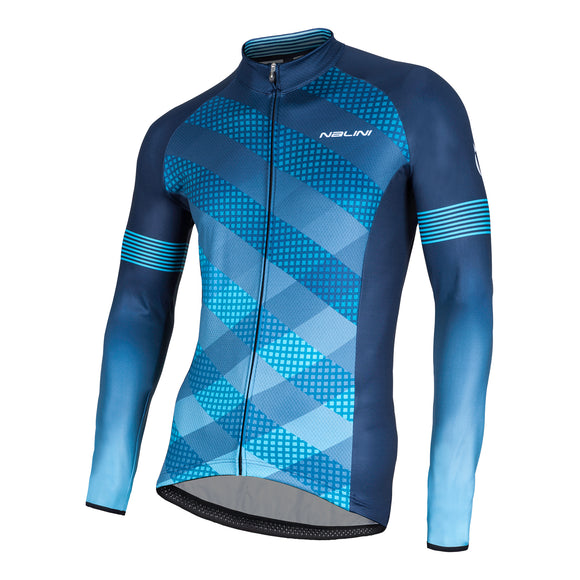 2018 Nalini MERAK Grafica Long Sleeve Jersey (Blue)