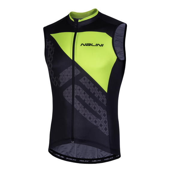 2019 Nalini Volata 2.0 Sleeveless Jersey Black/Yellow