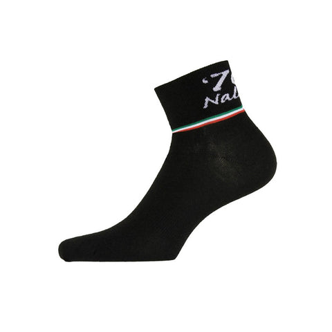 "Nalini ""Shorty"" Wool Black Cycling Socks (H9) - Sale"