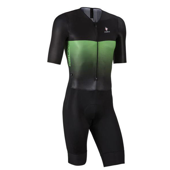 Nalini XBlack Body SS Skinsuit - Blk/Green - Sale