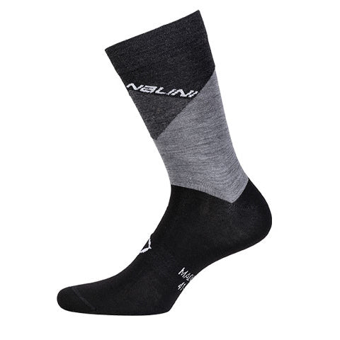 Nalini Crit Merino Wool Cycling Socks - Grey