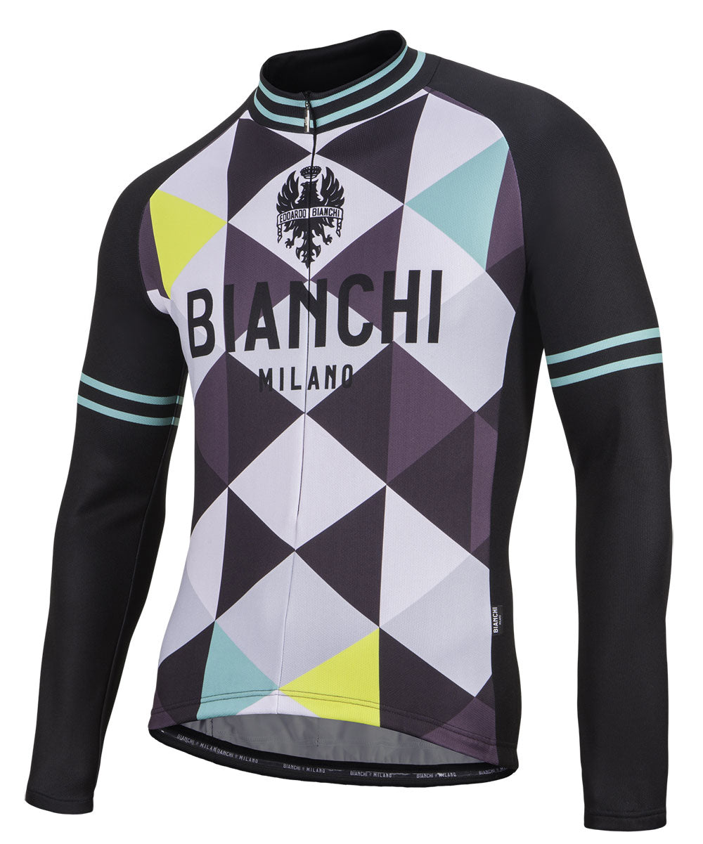 Bianchi Milano Argyle Black Harlequin Long Sleeve Cycling Jersey – Nalini  USA dc089bf70