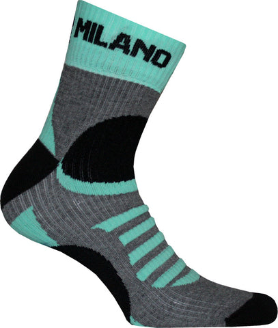 Bianchi-Milano Ornica Black/Grey/Green Coolmax Cycling Socks