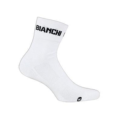 Bianchi-Milano Coolmax White Cycling Socks