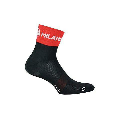 Bianchi-Milano Asfalto Coolmax Black/Red Cycling Socks