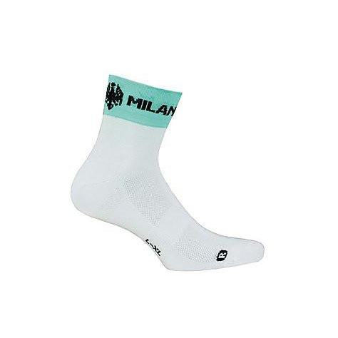Bianchi-Milano Asfalto Coolmax Green/White Cycling Socks