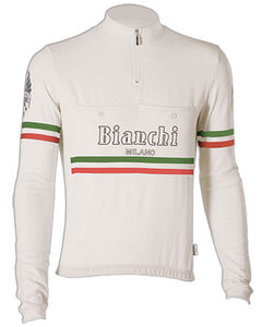Bianchi-Milano Hiten White Wool Long Sleeve Jersey