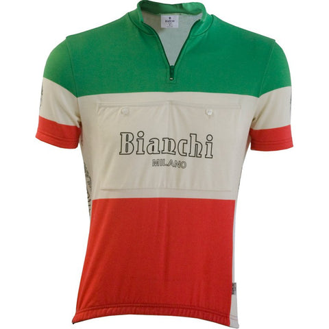 Bianchi-Milano Tri-Colore Wool Jersey for Cycling