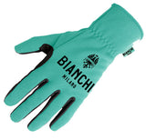 Bianchi-Milano Winter Osio Cycling Gloves - Celeste