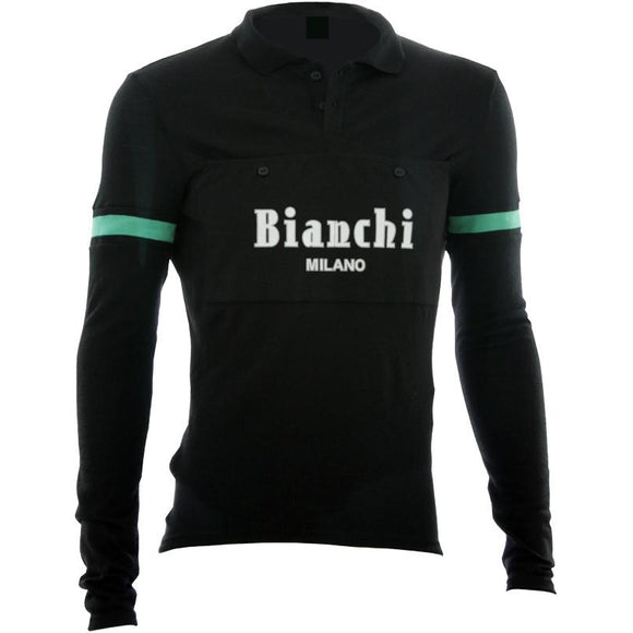 Bianchi-Milano Camastra Black Long Sleeve Wool Jersey