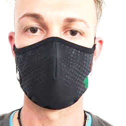 AirProtect Face Mask - Black w/ Italian Flag