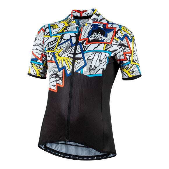 2020 Nalini Turin 2006 Women's SS Jersey - Black Comics (SALE)