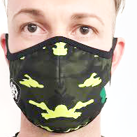 AirProtect Face Mask - Black w/ Yellow Camo
