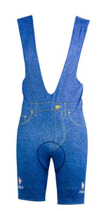 Team Carrera Blue Jeans Bib Shorts