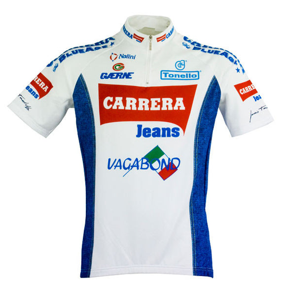 Team Carrera Retro SS Jersey (White)