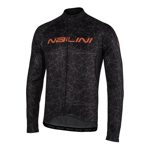 Nalini Men's Logo AHW Long Sleeve Jersey (Black) SALE